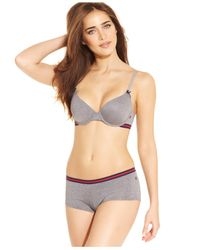 Tommy Hilfiger | Gray Heather T-shirt Bra R72t010 | Lyst