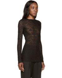 Stella McCartney | Black Lace Top | Lyst