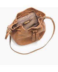 J.Crew - Brown Tassel-tie Bucket Bag - Lyst