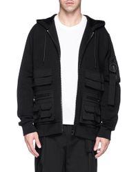 Givenchy - Black Multiple Pocket Zip Hoodie for Men - Lyst