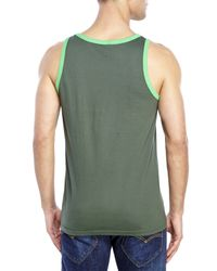 Wesc - Green Overlay Classic Tank for Men - Lyst