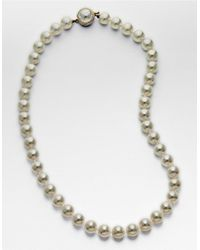 Majorica | White Organic Man-made Pearl Necklace | Lyst