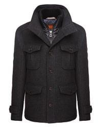 BOSS Orange - Black Wool-blend Jacket 'c-orfeys' for Men - Lyst