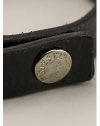 DIESEL   Black Leather Bracelet for Men   Lyst