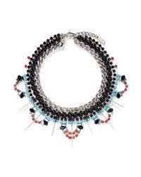 Joomi Lim | Multicolor 'high Society' Crystal Pearl Collar Necklace | Lyst