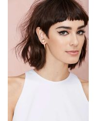 Nasty Gal - Metallic So Spiked Earrings - Lyst