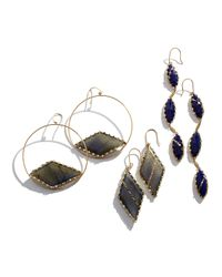 Lana Jewelry - Metallic Tri Lapis Splash Earrings - Lyst