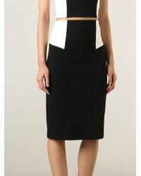 Alice + Olivia - Black Waist Panel Pencil Skirt - Lyst