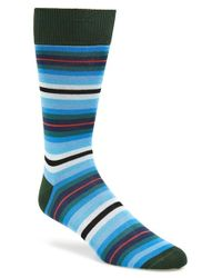Paul Smith | Blue Stripe Socks for Men | Lyst