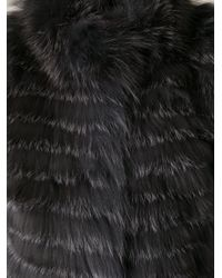 Meteo by Yves Salomon - Gray Fox Fur Gilet - Lyst