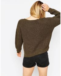 ASOS - Natural Ultimate Chunky Jumper - Lyst