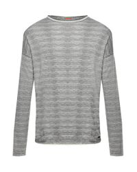 BOSS Orange | Gray Knit Sweater In Cotton Blend: 'katoun' for Men | Lyst