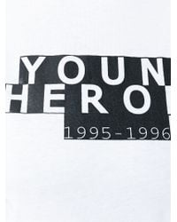 AALTO | White Young Heroes Print T-shirt | Lyst