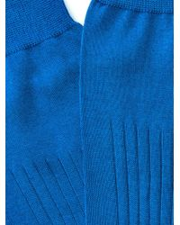 Balenciaga - Blue Cotton Socks for Men - Lyst