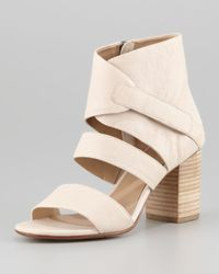 Eileen Fisher - Tier Leather Anklewrap Sandal Buff - Lyst