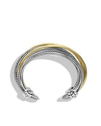 David Yurman - Metallic Crossover Narrow Cuff With Gold - Lyst