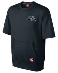Nike | Black Men's Air Short-sleeve Pullover Sweatshirt for Men | Lyst