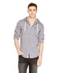 DKNY | Black Jeans Hooded Shirt for Men | Lyst