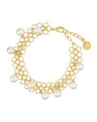 Majorica | Metallic 8mm Pearl Chain Link Bracelet | Lyst