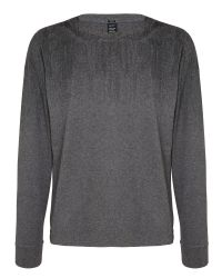 Replay | Gray Jersey T-shirt Round Neck Long Sleeves for Men | Lyst