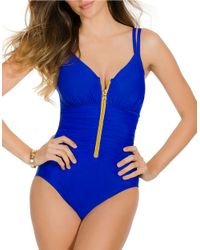 Miraclesuit | Blue Suit Yourself Razer One-piece Swimsuit | Lyst