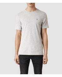 AllSaints - Gray Brace Tonic Crew T-shirt Usa Usa for Men - Lyst