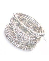 Nakamol | Metallic Marauder Wrap Bracelet-silver | Lyst