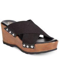 Callisto | Black Codye Platform Slide Sandals | Lyst
