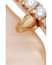 Jordan Alexander | Metallic Mo Exclusive: One Of A Kind 18k Rose Gold Diamond And Pearl Slice Ring | Lyst