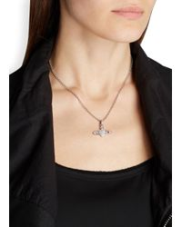 Vivienne Westwood | Metallic Silver Tone Orb Necklace | Lyst