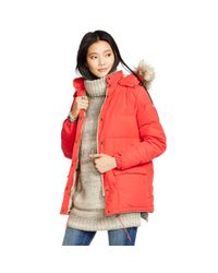 Denim & Supply Ralph Lauren | Red Detachable-hood Down Jacket | Lyst