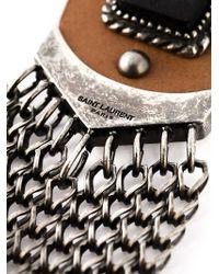 Saint Laurent Metallic 'Lennon' Necklace for men