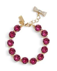 kate spade new york | Red 'fancy That' Line Bracelet - Fuschia | Lyst