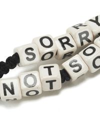 Venessa Arizaga | Black Women's Sorry Not Sorry Bracelet | Lyst