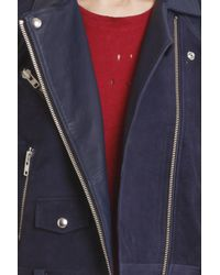 IRO | Blue Adila Leather Jacket | Lyst
