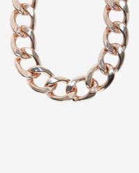 Fallon - Metallic Chunky Chain Link Biker Choker - Lyst
