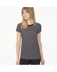 James Perse Black Classic Striped Tee