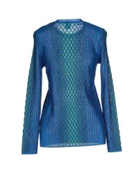 M Missoni | Blue Jumper | Lyst