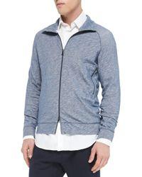 Vince - Blue Vintage Melange Track Jacket & Knit Jogger Pants - Lyst