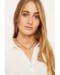 Urban Outfitters | Metallic Pearl Choker Necklace | Lyst