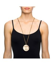 Lulu Frost - Metallic New Written in Stone Message Locket Long Necklace - Lyst