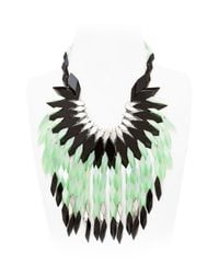 Silvia Rossi | Green Peacock Feathers Necklace | Lyst