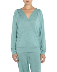 Calvin Klein | Green Long Sleeved Hodded Top | Lyst
