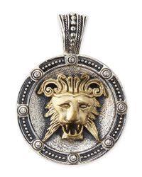Konstantino | Metallic Mens Myrmidones Round Lion-Face Pendant for Men | Lyst