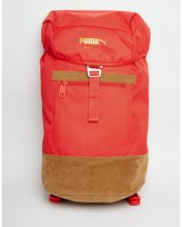 75272d816d Lyst - PUMA Suede Backpack in Red for Men