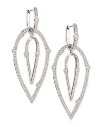 Stephen Webster | Metallic 18k Large 3d Hoop Earrings With Diamonds | Lyst