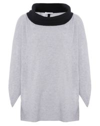 Duffy | Gray Cowl Neck Cashmere Jumper | Lyst