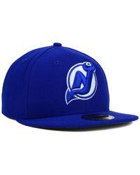 KTZ - Blue New Jersey Devils C-Dub 59Fifty Cap for Men - Lyst