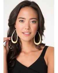 Bebe | Metallic Matte Teardrop Earrings | Lyst
