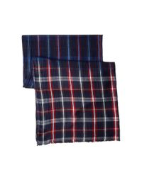 Michael Stars - Blue Dippied In Plaid Wrap - Lyst